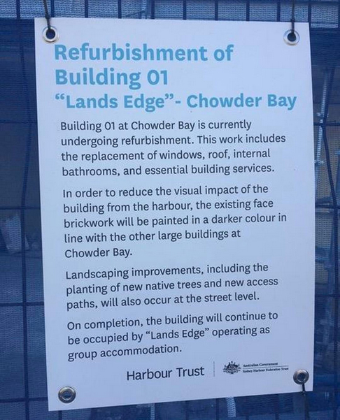 Lands Edge Chowder Bay Refurbishment 2017